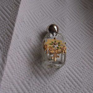 vintage glass bottle. mini size